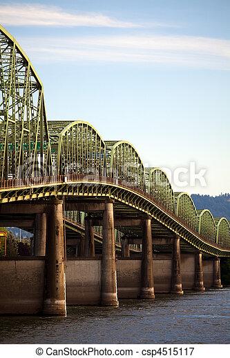 Old interstate bridge in Oregon - csp4515117