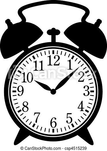 Vecteurs eps de reveil classique horloge classique - Dessin reveil ...