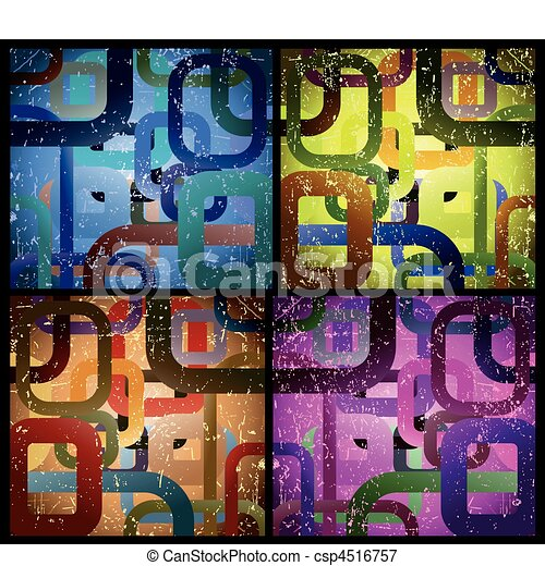 Set abstract grunge square background. Vector - csp4516757