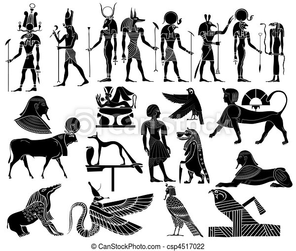 vector themes of ancient Egypt - csp4517022