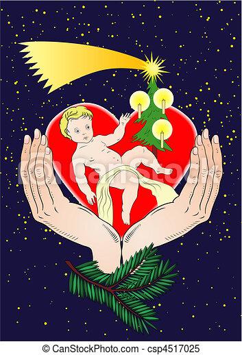 vector christmas - Jesus Christ - csp4517025