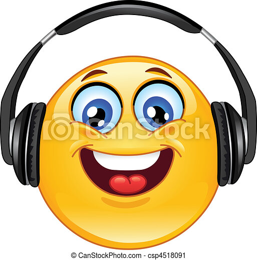 Headphone emoticon - csp4518091