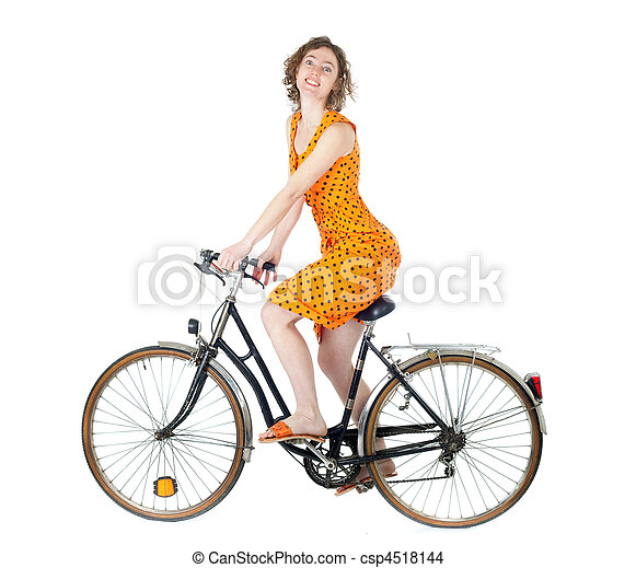 woman on bicycle - csp4518144