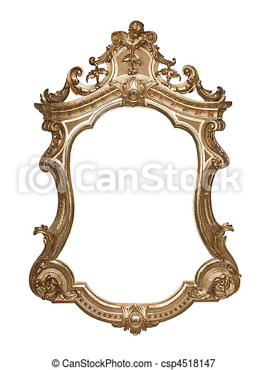 Ornate vintage frame with clipping - csp4518147