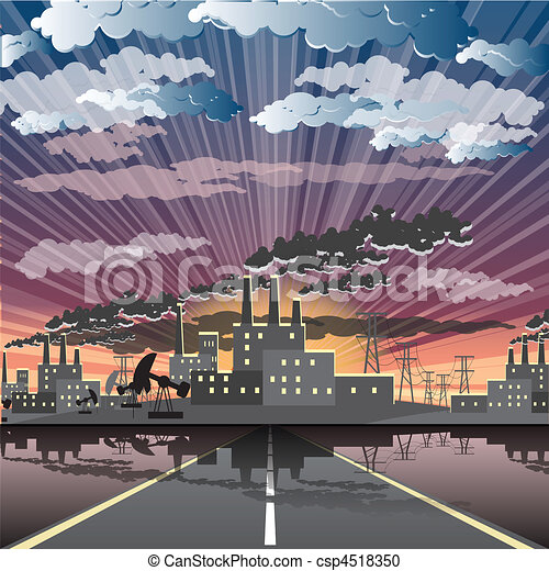 industrial city - csp4518350