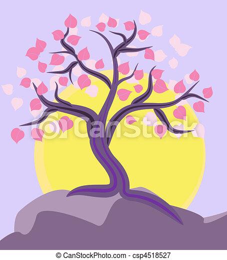 tree on the mountain top - csp4518527