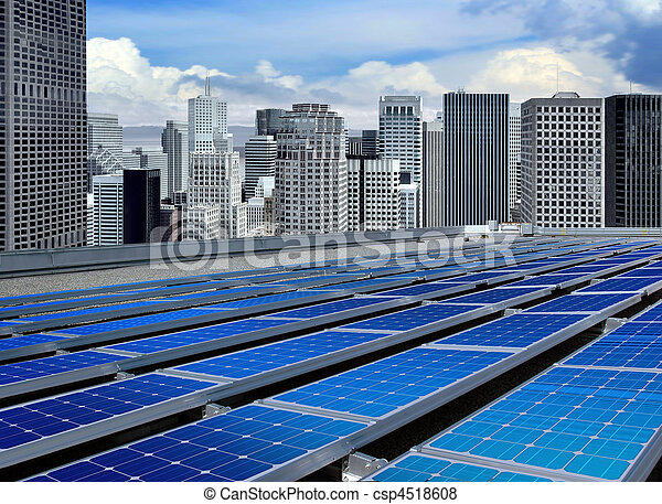 modern solar panels - csp4518608