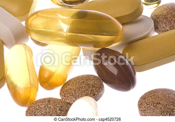 Health Supplements Macro Isolated - csp4520726