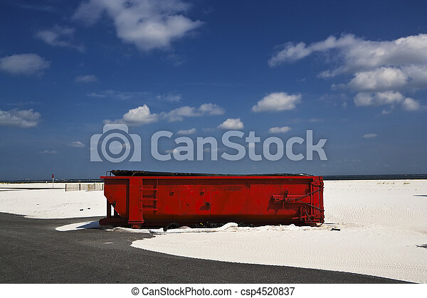 Red Dumpster & Sands, Gulf Coast - csp4520837
