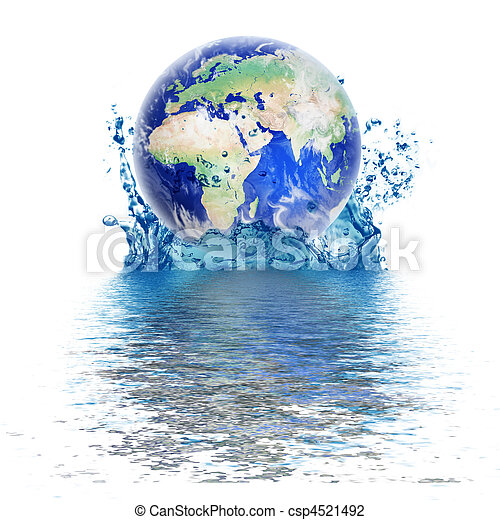 planet earth like water drop - csp4521492