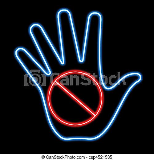 stop sign signal - csp4521535