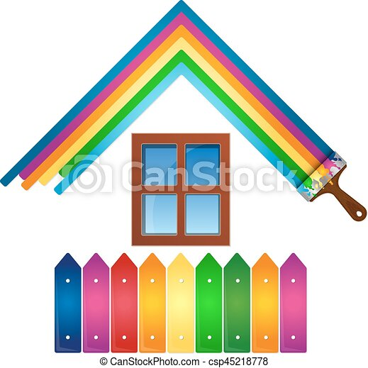 vector diseo pintura casa