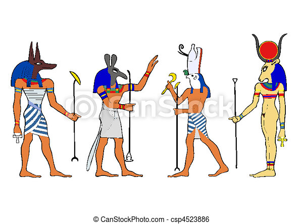 Egyptian gods and goddess - csp4523886