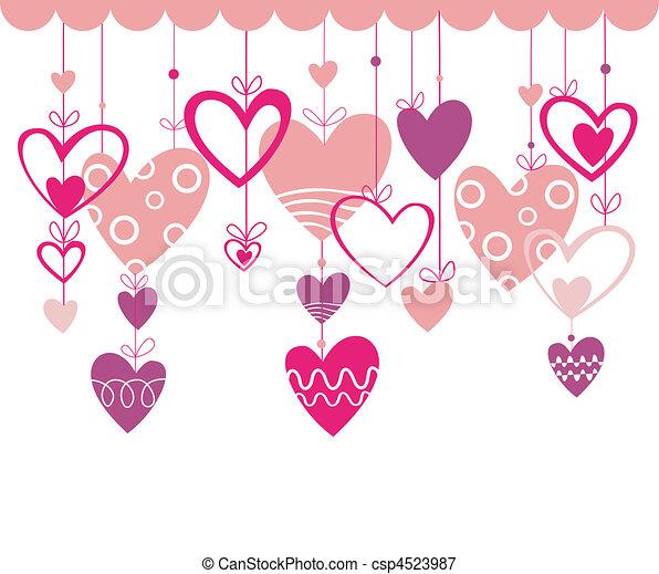 Valentines day background with hear - csp4523987
