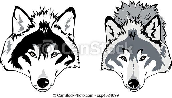 Wolf head vector - csp4524099