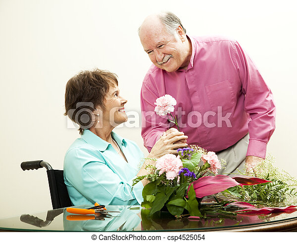 Florist - Helpful Husband - csp4525054