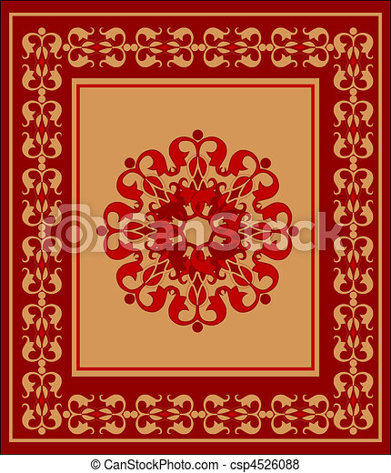 Vector Of Arabian Carpet Csp4526088 Search Clip Art