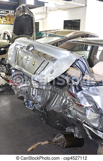 acidente, Danificado, motorcars - csp4527112