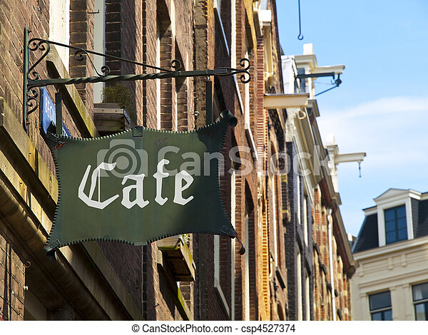Medieval Coffee in Amsterdam - csp4527374