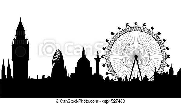 panorama of London - vector - csp4527480