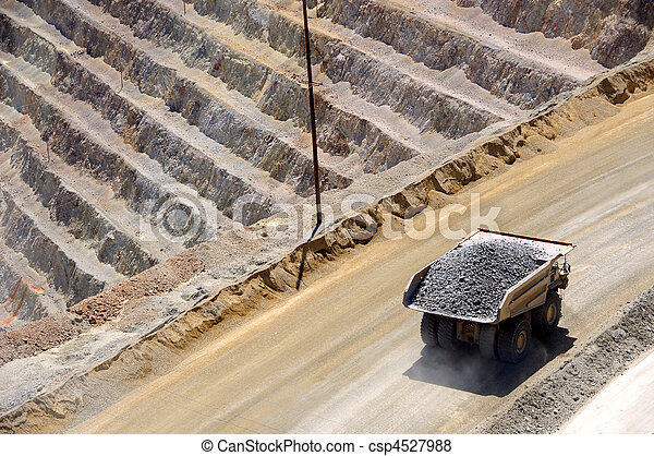 Giant Ore Truck at Bingham Kennecott Copper Mine - csp4527988