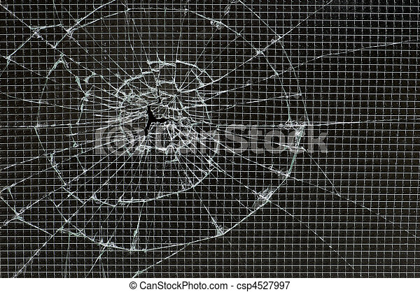 Shattered reinforced glass - csp4527997