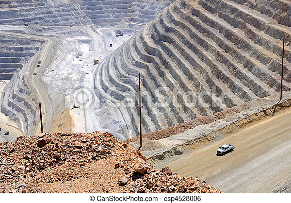 Bingham Kennecott Copper Mine Close-up - csp4528006