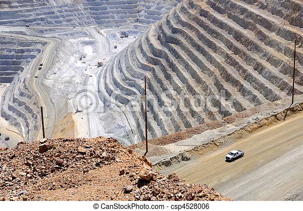 Bingham Kennecott Copper Mine Close-up - csp4528006