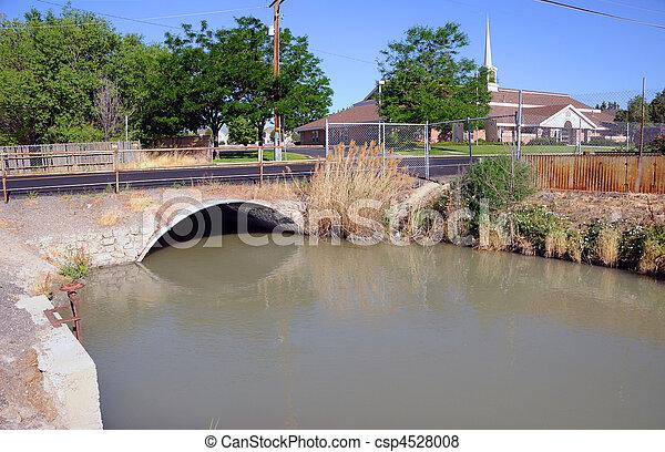 Irrigation Canal of the Jordan River in Salt Lake Valley, Utah - csp4528008