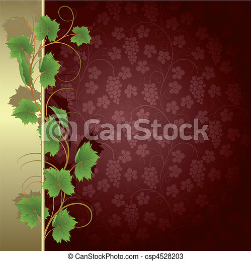 Background with vine - csp4528203