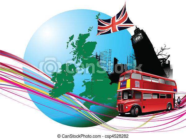 England images. Vector illustratio - csp4528282