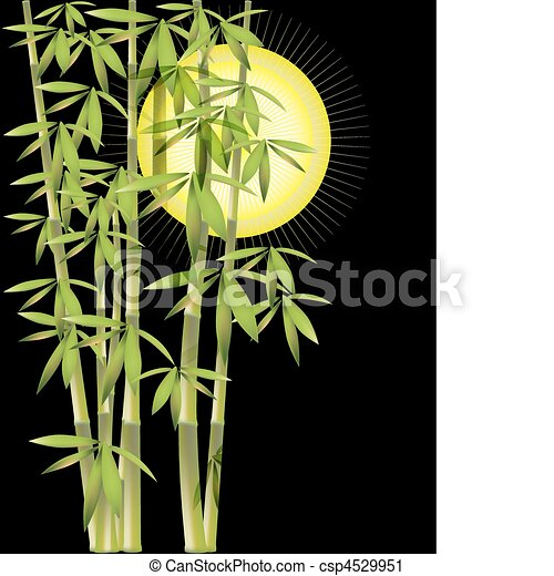 Vector Clip Art of background with bamboo csp4529951 - Search ...