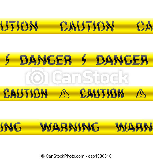 Seamless tapes of caution - csp4530516