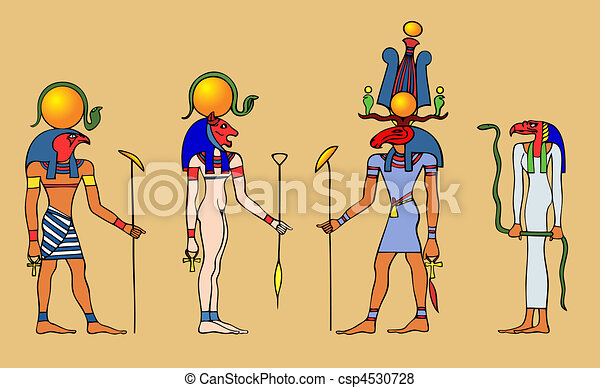 Egyptian gods - vector - csp4530728