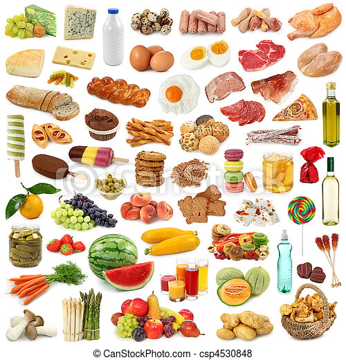 Lebensmittel  Bilder von lebensmittel, sammlung - Food, sammlung, freigestellt ...