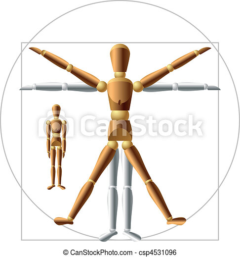 Wooden man - csp4531096