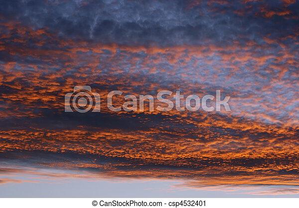 rosy sky - csp4532401