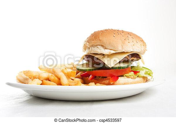 fast food burger - csp4533597