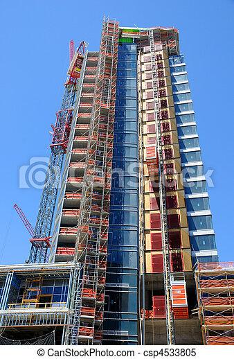 High Rise Construction in Salt Lake City - csp4533805