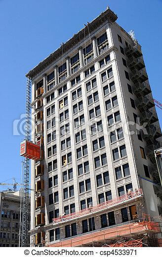 Historic Building Undergoes Renovation - csp4533971