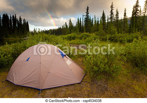 Wilderness Camping Concept - csp4534038