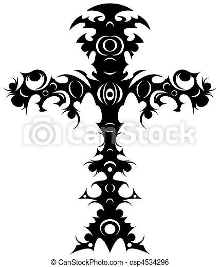 Tribal cross - csp4534296
