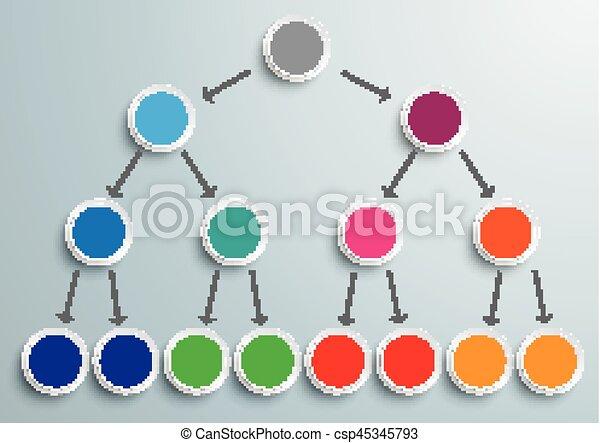Colored Pyramid Scheme Infographic - csp45345793