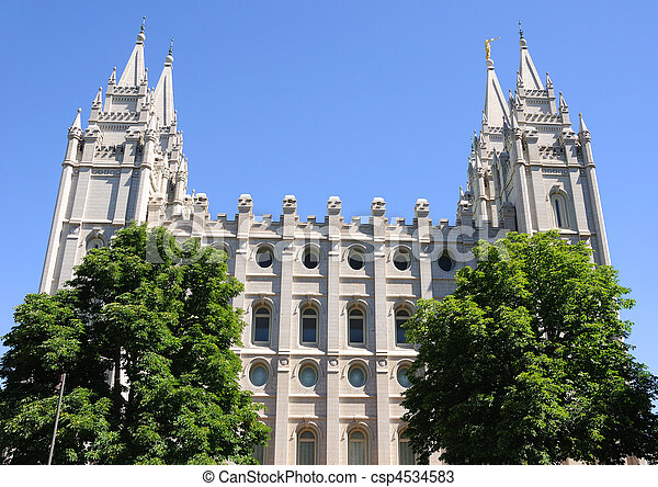 Mormon Temple in Salt Lake City, Utah - csp4534583