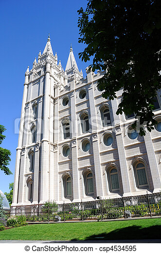 Mormon Temple in Salt Lake City - csp4534595