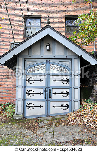 Ornate Shed in Upscale Seattle Neighborhood - csp4534823