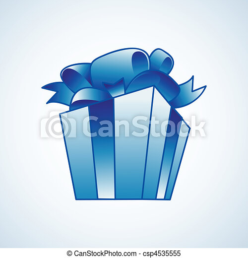 Christmas present box - csp4535555