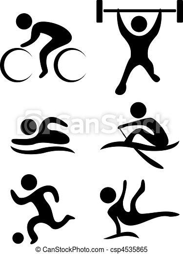 vector sports symbols - csp4535865