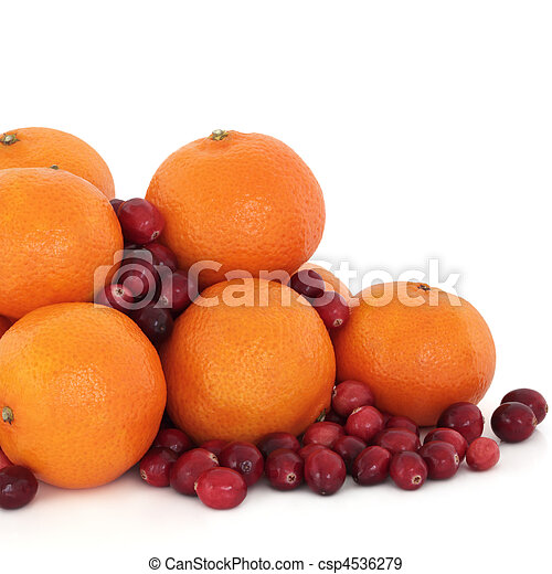 Tangerine and Cranberry Fruit - csp4536279