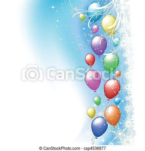Christmas balloons - csp4536877